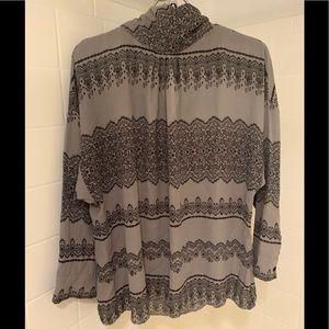 New York & Company lux print dolman sleeve blouse